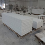 superfície contínua acrílica de mármore de Corian do branco de 6mm para a decoração de Interier