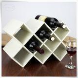 Sostenedor de cuero de la visualización del vino