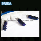 탄화물 4 플루트 Nano 파란 입히는 맷돌로 가는 절단기 HRC60