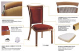 Hotel de aluminio del grano de madera silla de comedor