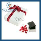 Rectángulo de joyería blanco con el divisor (CMG-PGB-022)