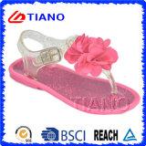 Sandalo della gelatina delle 2016 ragazze di modo con il fiore (TNK50024-1)