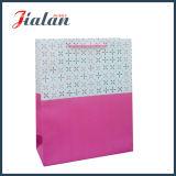 Bolsa de papel laminada mate del regalo de las compras del papel de marfil del color sólido