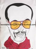 باردة تصميم شاشة طباعة قطر عادة رجل [ت] قميص صناعة في الصين