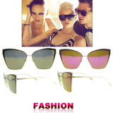 2016 gafas de sol de la manera de Sun de los vidrios del diseñador de la vendimia de Sun de las mujeres comunes listas de los vidrios UV400