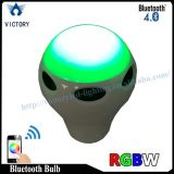 Bulbo remoto esperto do diodo emissor de luz do altofalante do RGB WiFi Bluetooth do controle do telefone