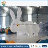 Bille gonflable géante de lune, ballon gonflable avec le lapin pour des événements