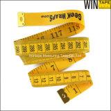 熱い販売の黄色いカスタム衣類3m二重味方された測定テープ