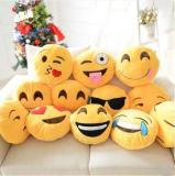 almohadilla suave del juguete del Emoticon de los 32*32cm Emoji del amarillo de la felpa sonriente de Roundstuffed