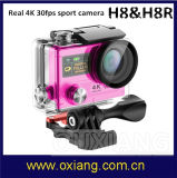 HD1080p H. 264 170degree 16MP Wide-Angle Lens 30m Underwater Mini Capacete Portátil Câmeras Sport