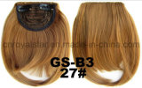 La frange de cheveu de fibre synthétique de température élevée avec des côtés s'est étendue
