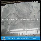 Mattonelle bianche di cristallo Polished della pietra del marmo dell'onda per la pavimentazione della pavimentazione