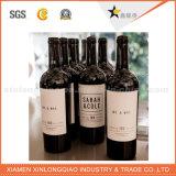 Venta al por mayor adhesiva personalizada papel de etiqueta de la botella