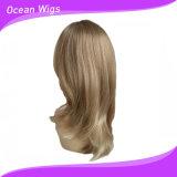 Parrucca sintetica dei capelli diritti della parrucca dei capelli di stile più lungo di colore della miscela