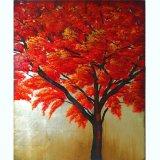 주문을 받아서 만들기 아름다운 풍광 화포 예술 가장 새로운 Handmade 빨간 나무 색칠 (LH-011000)를