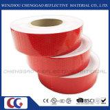 Nastro riflettente rosso di sicurezza di disegno di colore solido del favo del PVC (C3500-OR)