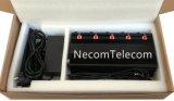 Jammer/construtor das faixas do telefone de pilha 5 para 2g+3G+WiFi+Lojack; Jammer da pilha de 5 antenas, jammer do GPS, jammer de controle remoto de WiFi