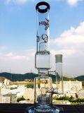 Zwei Teile Birdcage-und Showerhead-Glaswasser-Rohr