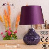 Europäisches Hotel-dekorative purpurrote keramische Schreibtisch-Lampen-Tisch-Lampe