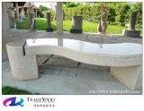 정원 조경을%s 자연적인 화강암 돌 테이블 & 의자