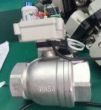 """"""" vávula de bola motorizada de la vávula de bola del agua del acero inoxidable del control eléctrico 2 (A100-T50-S2-C)"""