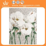 白いLily Flower Picture Mosaic Art Decoration (10k321)