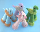 Het zachte Gevulde Stuk speelgoed van het Paard van het Huisdier van de Pluche met Kabel en Squeaker Vier Asst.