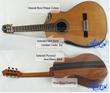 Гитара привлекательной специальной формы Cutway шара испанская классическая