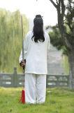 Ropa oblicua del collar del lino chino de alto grado de Han de las mujeres de la ji de Wudang Tai del Taoism