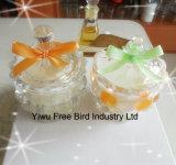 Bougie globale en verre de cadeau de chocs parfumés de luxe de coutume