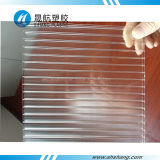 PC transparent Plate de Twin Wall Polycarbonate avec Coating UV