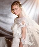 Пояса Applique Neckline v 0091 шлюпки платье цвета слоновой кости венчания заднего кристаллический