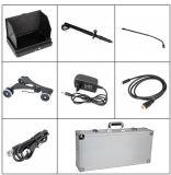Neuer Ankunft 7 ' 1080P HD Miniunterfahrzeug-Inspektion CCTV-Kamera-Mast Pole mit Rädern mit 7 video DVR System des Zoll-