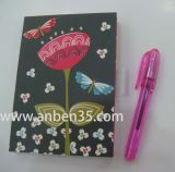 Cuaderno de papel hermoso de Shool con la cinta y princesa Bookmark