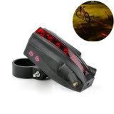 5 цвета светильника безопасности 3 логоса лазера света велосипеда лазера СИД 2 свет кабеля Bike толковейшего задний
