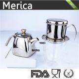 Caffè della parte inferiore del quadrato dell'acciaio inossidabile e POT del tè