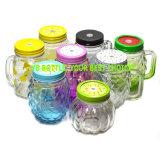 Buntes Glasmaurer-Glas mit Griff und Kappe
