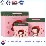 Bolso de compras impreso promocional del papel de la cartulina, bolsa de papel barata del regalo