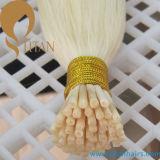 Человеческие волосы 100% Remy кератина я наклоняю выдвижение человеческих волос