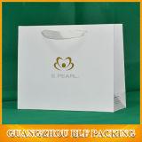Sac blanc de papier d'emballage de mode gentille