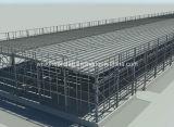 Magazzino a basso costo prefabbricato della struttura d'acciaio