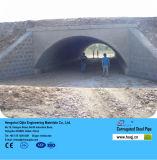 Métal plat de tunnel ondulé galvanisé par demi-cercle de pipe en acier