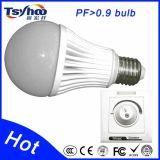 Lampadine approvate di RoHS 100-240V A60 E26/E27 5W LED del Ce economizzatore d'energia