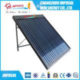 Aquecedor de água solar com tubo de calor com bobina de cobre