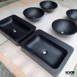 Kingkonree Artificial Stone Black Wash Basin Lavatory Basin