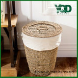 Cover, Garbage Can.를 가진 다기능 Storage Wicker Basket