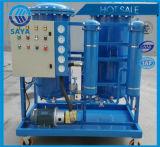 물과 불순에 의하여 사용된 윤활유 엔진 기름 정화기를 제거하십시오