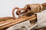 Shoppind와 음식 과일과 재료 Strorage를 위한 고리 버들 세공 손바구니