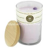 2016 velas perfumadas al por mayor del tarro de la soja con el lujo de la tapa