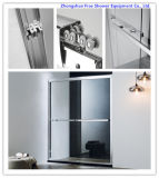 8mm Tempered Glass Shower Door Sliding \ Double Sliding Shower Door \ Bathtub Shower Door \ Metal Wheel Shower Cabin